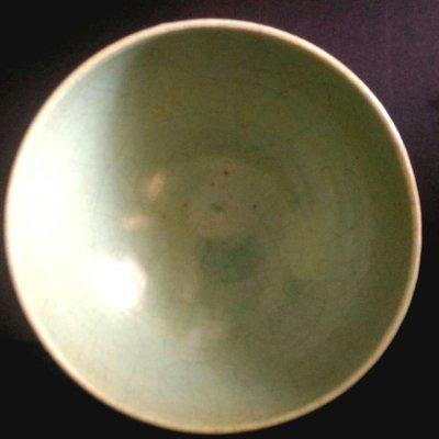 [聚寶軒] 古瓷 老件 天靑釉 碗 品相如圖品相如圖 尺寸約: (口徑)18.4* 5.6(底徑)*10(高)公分
