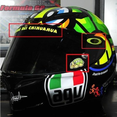[Formula GP] MotoGP AGV K3 安全帽 羅西 ROSSI 烏龜 OAKLEY 鏡片貼紙 車貼貼紙 台北市