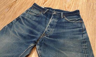 保證真品日本製丹寧始祖老牌CANTON 直筒牛仔褲 絕美自然養褲  貓鬚紋 蜂巢 龍捲風 色落 白赤耳布邊