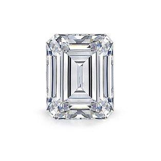 GIA 0.43克拉 E  IF  Emerald Cut Diamond (40分祖母綠型切刻鑽石價格)