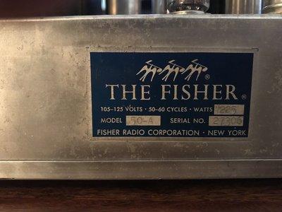 售美國製造FISHER 50A MONO 真空管 後級擴大機 ㄧ對