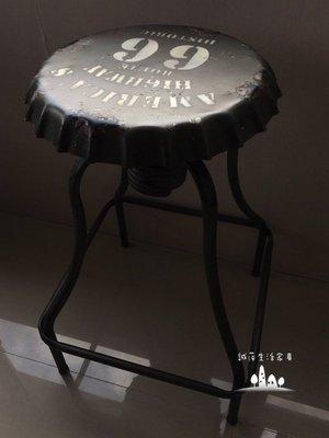 ~誠萍生活傢俱~美式LOFT瓶蓋造型高腳椅 吧檯凳 美式鄉村   直購價$1890元