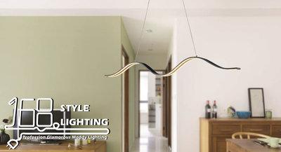 【168 Lighting】彩帶舞《LED吊燈》(兩色)黑色GE 81091-1