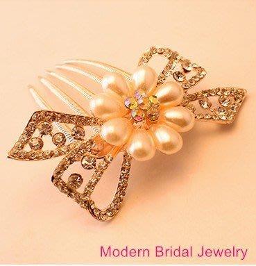 新娘飾品 伴娘 新娘飾品 新娘秘書 新娘髮飾 新娘頭飾 新娘包 新娘頭紗 新秘 婚紗 禮服【L-963】珍珠頭飾