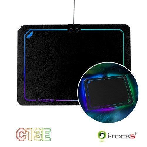 【鳥鵬電腦】i-rocks 艾芮克 IRC13E C13E RGB 多彩背光滑鼠墊 全區橡膠防滑底座 細緻表面 跑馬燈