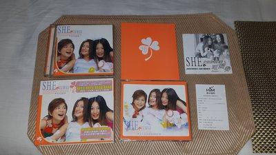 【李歐的音樂】華研唱片S.H.E 女朋友 女生宿舍 CD+ RVCD +28頁小寫真+可蹦券+歌迷卡 下標就賣