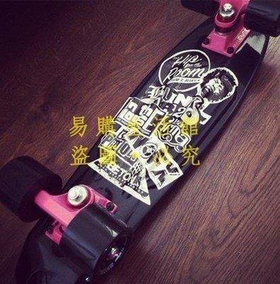 [王哥廠家直销]邁卡龍小魚板 香蕉板 夜光小魚滑板透明成人代步刷街公路四輪滑板LeGou_1649_1649