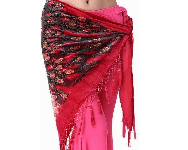 印度肚皮舞練習服 演出服 恰恰國標探戈  舞臺裝 臀巾 腰巾