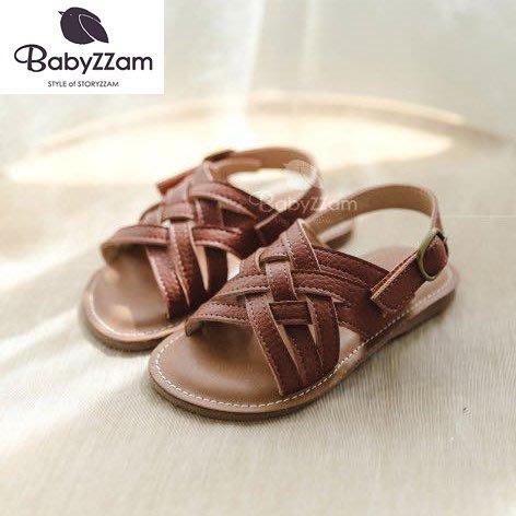『※妳好,可愛※』韓國童鞋 Babyzzam 正韓 羅馬編織款涼鞋  夏日涼鞋 編織涼鞋 兒童涼鞋  涼鞋