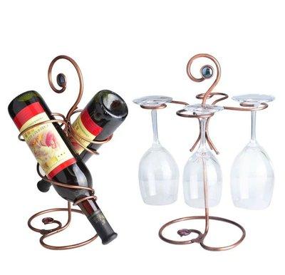 酒吧用品 酒架 酒具 開酒器 調酒器時尚歐式鐵藝復古款酒架倒掛杯架紅酒杯架餐桌擺設酒托酒具