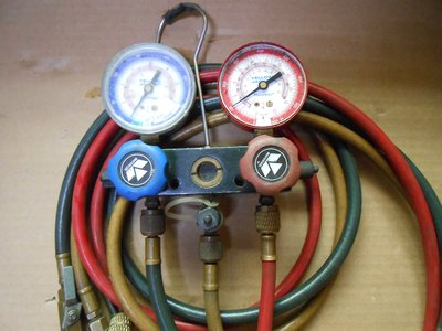 A&R~美國YELLOW JACKET 黃傑克冷媒雙錶組 #40939冷媒錶組 R410 附5尺加氣管