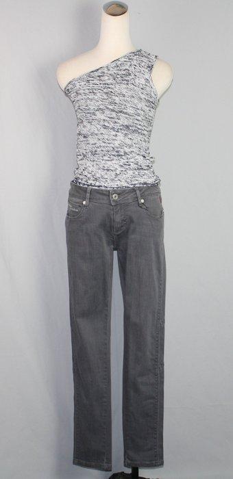 海洋工坊二手名牌旗艦店~NOViZIO灰色中低腰牛仔褲