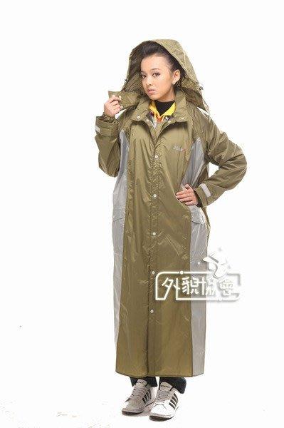 ((( 外貌協會 ))) RAINX新款高透氣性風雨衣一件式( 橄綠 )熱賣商品