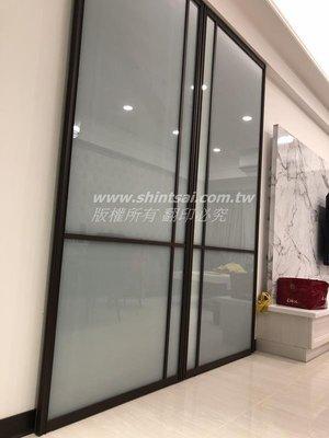 shintsai玻璃工程 細鋁框拉門 鋁框組合鏡  鋁框屏風   鋁框玻璃隔間 鐵框拉門 懸吊拉門 合頁門