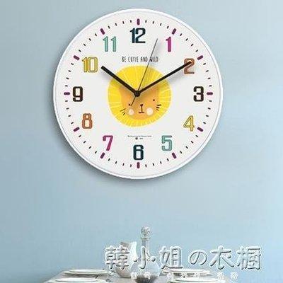 ZIHOPE 北歐動物掛鐘兒童卡通靜音鐘錶現代簡約客廳創意鐘錶家用時鐘壁鐘ZI812