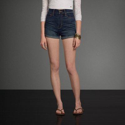 A&F 女 Natural Waist 高腰 刷白 牛仔短褲 尺寸24 / 26 全新 現貨