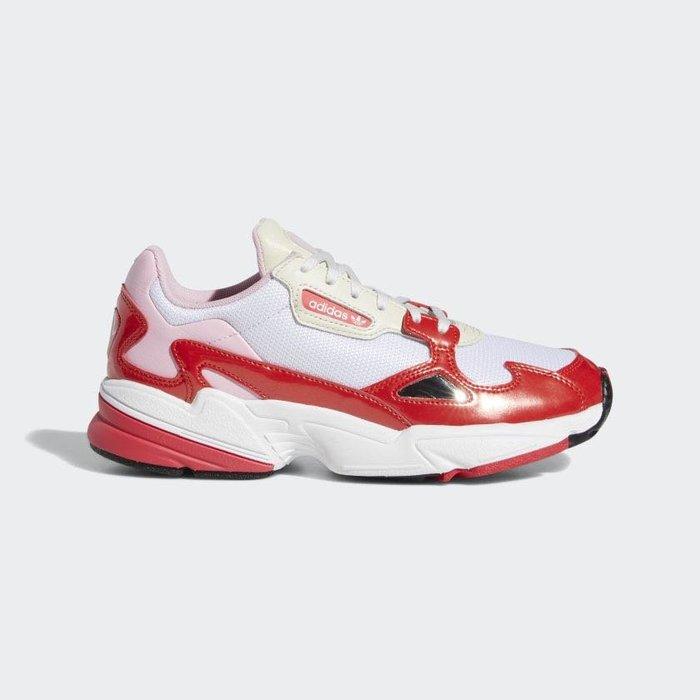 【Cheers】 Adidas ORIGINALS Falcon 女鞋 增高 紅白 白紅 桃紅 歐美限定 EE3830