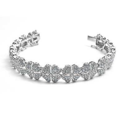 【JHT 金宏總珠寶/GIA鑽石專賣】3.80ct天然鑽石手鍊/材質:18K(JB42-A16)