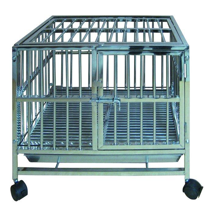 3.5台尺 固定式白鐵管籠 S203不銹鋼室內籠 不鏽鋼管籠狗籠 3.5X2.5尺(DK-0615)每件9,200元