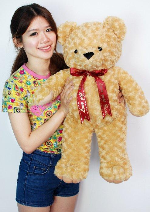 拉拉小站~可愛玫瑰泰迪熊娃娃~高70公分~泰迪熊~毛質柔軟~最受歡迎玩偶
