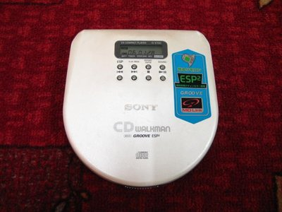 【完美作品】85%新,SONY WALKMAN D-E700 CD隨身聽,簡易配件