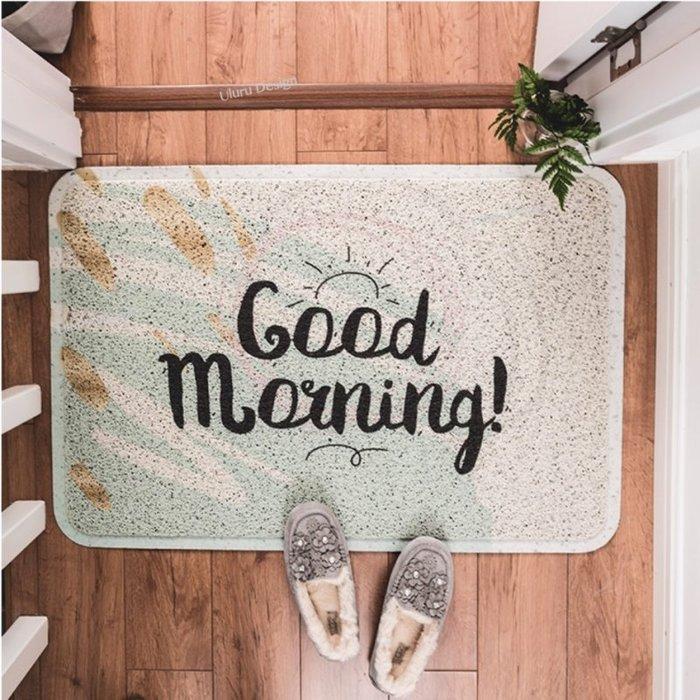 【Uluru】北歐風格 玄關地墊 45×75cm 門口腳踏墊 小清新地墊 陽台墊子 咖啡廳 早午餐 門口防滑墊 大門地墊