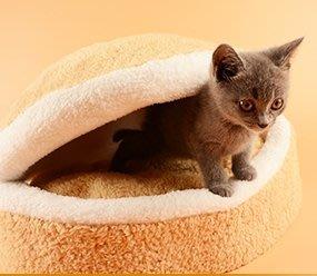 小款 萌系 銅鑼燒造型貓窩 貓床 狗窩 狗床 漢堡 造型 貓窩 銅鑼燒 喵星人 交換禮物 寵物窩【HH15】