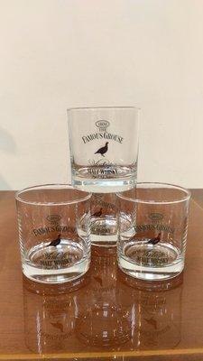 (全新品) THE FAMOUS GRUSE MALT WHISKY玻璃水威士忌 烈酒 紅酒 啤酒杯(4個1組) ~特價