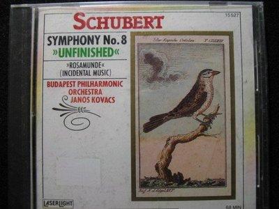 SCHUBERT - Symphony No.8  unfinished  - 1988年美國盤 - 全新未拆 - 281元起標  交響曲  240