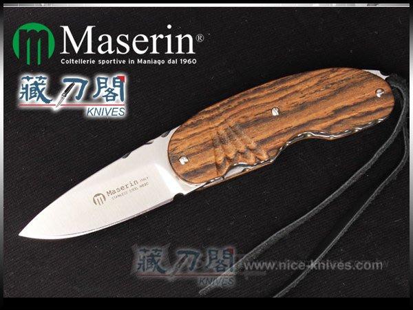 《藏刀閣》Maserin-(Arint)紳士小折刀(黃金檀木)