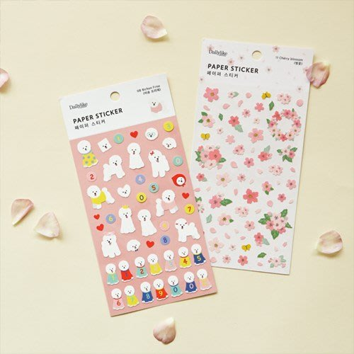 ❅PAVEE❅ 韓國Dailylike~Paper Sticker 動物花朵 生活記事 紙質日誌裝飾貼紙 01-18