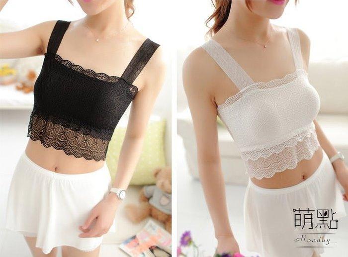 萌點 蕾絲小可愛 黑色/白色 百搭 蘿莉風 cospaly 洋裝必備 貼身 舒適 性感 甜美【000079】