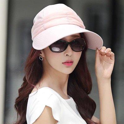 韓版防曬帽 名媛款 遮陽帽 防紫外線遮陽帽 加大帽沿空頂帽 可露馬尾 沙灘度假出國旅遊 漁夫帽