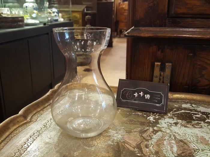 【卡卡頌 歐洲跳蚤市場/歐洲古董】歐洲老件_弧型 曲線 玻璃瓶 玻璃花瓶 小插花瓶 玻璃器皿  g0449