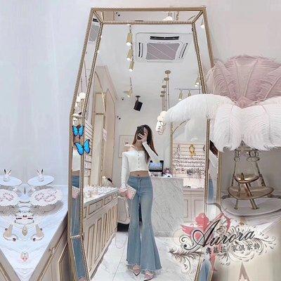 美容鏡  穿衣鏡  置地鏡 牆掛鏡 全身鏡 美髮鏡 玄關鏡 時尚 摩登簡約 風格  服飾店鏡