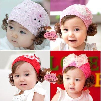 髮帶 兒童髮飾 寶寶髮帶頭飾 髮箍 假髮蕾絲髮帶~【BA113】