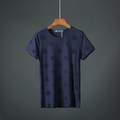 T恤 短袖 簡約 百搭 寬鬆夏季新款韓版時尚簡約純色T恤舒適潮男裝彈力修身上衣短袖