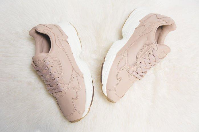 【Cheers】Adidas Falcon W 厚底 增高 復古 老爹 裸色 粉膚 粉色 粉白 英國限定 女款
