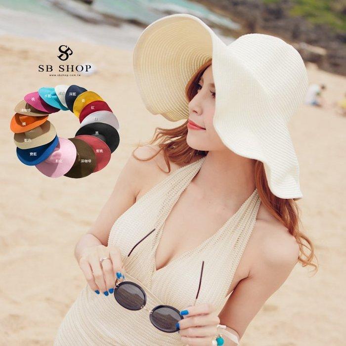 SB睡美人【海灘 遮陽帽 15色】玩水必備~大沿帽 大草帽 沙灘帽 太陽帽 草帽 寬緣帽 比基尼