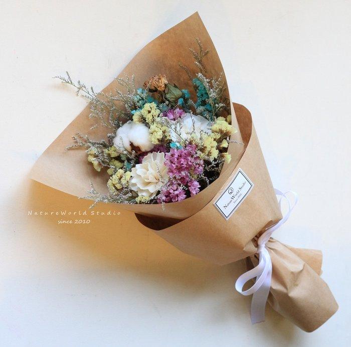 馬卡龍索拉香氛小花束/畢業乾燥花束【原生態工作室】