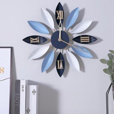 【蘑菇小隊】時鐘北歐藝術鐘表時鐘掛鐘歐式現代簡約個性時尚家用客廳創意裝飾靜音 DF-MG67095