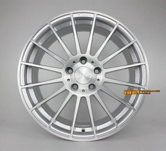 【台灣輪胎王】MAHOM 正品 MF08 旋壓鋁圈 18吋 5孔108/114.3 8J 銀刷髮線 (配胎套餐大折扣)
