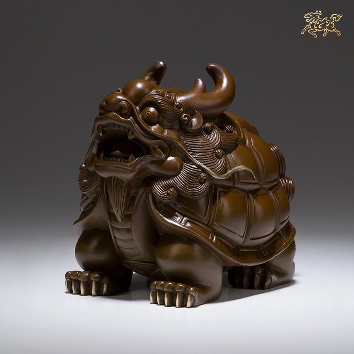 摆件銅師傅 全銅擺件 《如意龍龜》銅工藝品 家居飾品 擺件饰品