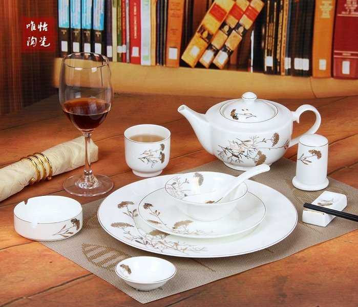 【優上精品】酒店擺台餐具套裝 餐具歐式牛排盤菜盤湯碗餐具套裝(Z-P3092)