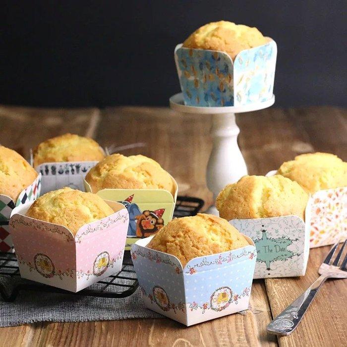 Amy烘焙網:4款任選/50入/正方形北海道戚風杯/方形瑪芬紙杯/磅蛋糕杯子蛋糕
