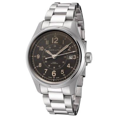 HAMILTON KHAKI FIELD H70305193 漢米爾頓 手錶 機械錶 40mm 棕色面盤 鋼錶帶 男錶