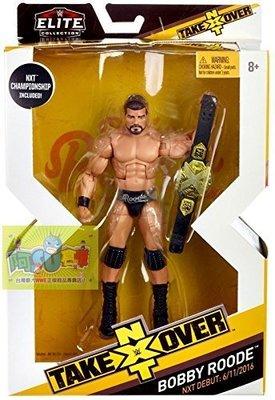 ☆阿Su倉庫☆WWE Bobby Roode NXT Takeover Elite Figure 精華版人偶附冠軍腰帶