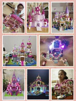 積木城堡 迷你廚房 早教益智兼容積木女孩子系列別墅拼裝公主夢城堡6房子8益智10玩具12歲