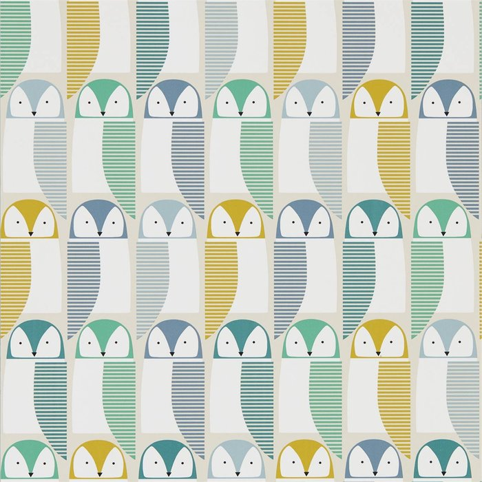 【Uluru】英國期貨壁紙.北歐簡約 BARNIE OWL (4色) 貓頭鷹 鳥類 壁紙 ES107系列