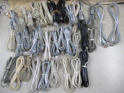 二手舖 NO.3536  室內電話線 電話連接線材 一般電話線 二手 2米長